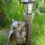 Udo Schmidt Lanterne solaire de jardin avec statue en forme de petit dragon de la marque Udo Schmidt image 2 produit