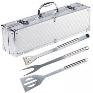 Ultranatura Set de 3 couverts à barbecue en acier inoxydable dans sa valise en alu de la marque Ultranatura image 0 produit