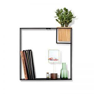 Umbra Cubist large. Etagère Cubist, noire en métal, avec pot de fleurs integré. Dimension 38.1 x 11.4 x 38.1 cm de la marque Umbra image 0 produit