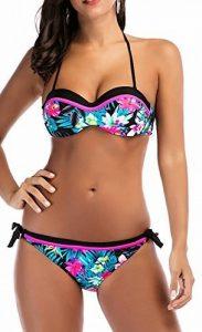 UMilk Femmes Imprimé Deux Pièces Triangle Bikinis Halter Bikini Maillots de Bain Ensembles de la marque UMilk image 0 produit