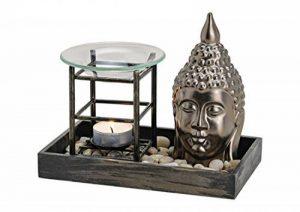 Unbekannt Lampe à parfum bouddha–principal, différents matériaux, tête de buddahs style zen garden, modèle lourd, dimensions: Longueur x Profondeur x hauteur = 19x 11x 12cm de la marque Unbekannt image 0 produit