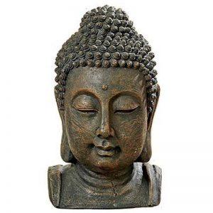 Unbekannt Sculpture, statue, tête de Bouddha en résine synthétique - couleur: marron - H26cm de la marque Unbekannt image 0 produit