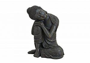 Unbekannt Statuette de Bouddha en méditation, endormi 18cm en marron, article de décoration pour maison & maison, sculpture de Bouddha, accessoires pour la maison Idéal comme cadeau de la marque Unbekannt image 0 produit
