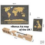 Une carte du monde à gratter avec des drapeaux XXL + BONUS une carte de Royaume-Uni (format A4) ! - Une affiche personnalisée du traqueur de voyage- souvenez-vous et partagez les mémoires de vos aventures. | Un design unique fait par ENNO VATTI (Noir | 84 image 1 produit