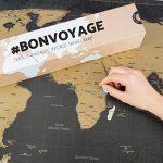 Une carte du monde à gratter avec des drapeaux XXL + BONUS une carte de Royaume-Uni (format A4) ! - Une affiche personnalisée du traqueur de voyage- souvenez-vous et partagez les mémoires de vos aventures. | Un design unique fait par ENNO VATTI (Noir | 84 image 2 produit