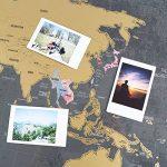 Une carte du monde à gratter avec des drapeaux XXL + BONUS une carte de Royaume-Uni (format A4) ! - Une affiche personnalisée du traqueur de voyage- souvenez-vous et partagez les mémoires de vos aventures. | Un design unique fait par ENNO VATTI (Noir | 84 image 4 produit