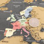 Une carte du monde à gratter avec des drapeaux XXL + BONUS une carte de Royaume-Uni (format A4) ! - Une affiche personnalisée du traqueur de voyage- souvenez-vous et partagez les mémoires de vos aventures. | Un design unique fait par ENNO VATTI (Noir | 84 image 3 produit