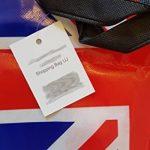 Union Jack Sac de shopping–Tote Sac réutilisable/British UK souvenir/Idéal pour plage/shopping/pique-nique/drapeau Bleu Blanc Rouge/noir côtés/Nylon robuste avec points de suture de la marque Lambert image 4 produit