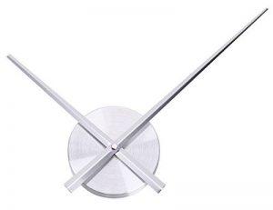 Uniquebella Pendule Murale 2 Grandes Aiguilles Horloge à Quartz Mécanisme Sans Cadran-L, Argenté de la marque UNIQUEBELLA image 0 produit