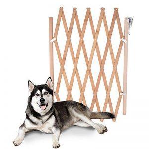 URIJK Barrière Extensible Bois Barrière de Protection Gate de séparé pour Petit ou Moyen Chien Clôture Réglable pour Animaux Domestiques de la marque URIJK image 0 produit