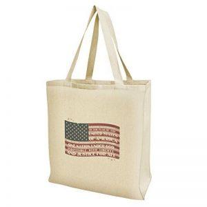 USA Drapeau Vintage Pledge of Allegiance provisions de voyage réutilisable Sac fourre-tout–Large de la marque Graphics and More image 0 produit
