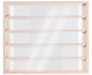 V32 - Vitrine murale 60 cm x 52 cm x 6 cm collection miniature collecteur tableau d'affichage train pion petit objet jouet enfant mini nain de jardin schtroumpf vitres en plexiglas clair meuble rangement étagère armoire placard bois nature petite bouteill image 0 produit