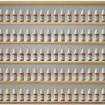 V32 - Vitrine murale 60 cm x 52 cm x 6 cm collection miniature collecteur tableau d'affichage train pion petit objet jouet enfant mini nain de jardin schtroumpf vitres en plexiglas clair meuble rangement étagère armoire placard bois nature petite bouteill image 1 produit