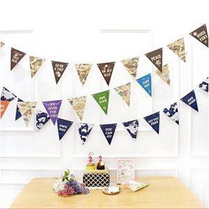 veewon 3x Multicolore Carte du monde style drapeau Banderole pour fête mariage anniversaire fête anniversaire bébé douche de la marque Veewon image 0 produit