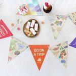 veewon 3x Multicolore Carte du monde style drapeau Banderole pour fête mariage anniversaire fête anniversaire bébé douche de la marque Veewon image 2 produit