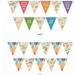veewon 3x Multicolore Carte du monde style drapeau Banderole pour fête mariage anniversaire fête anniversaire bébé douche de la marque Veewon image 4 produit