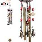 Vent Chimes Bronze Métal Vent Charms 4 Tubes 5 Bells Carillons 60cm long approx, Carrousels de vent pure à la main pour Garden Home Outdoor Garden Ornaments de la marque MIRX image 2 produit