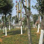Vent Chimes Bronze Métal Vent Charms 4 Tubes 5 Bells Carillons 60cm long approx, Carrousels de vent pure à la main pour Garden Home Outdoor Garden Ornaments de la marque MIRX image 4 produit