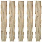 vidaXL 5x Treillis en Bois Extensibles Ensemble de Treillis Bordure de Jardin de la marque vidaXL image 1 produit