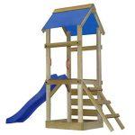 vidaXL Aire de jeux avec échelle et toboggan 260x90x245 cm en bois de la marque vidaXL image 3 produit