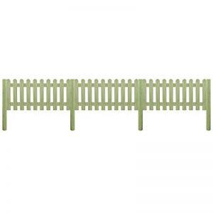 vidaXL Clôture avec Poteaux Bois de Pin Imprégné 130 cm Bordure de Jardin de la marque vidaXL image 0 produit