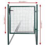 vidaXL Portail simple pour clôture en acier laqué Portail porte de jardin terrasse de la marque vidaXL image 1 produit
