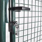 vidaXL Portail simple pour clôture en acier laqué Portail porte de jardin terrasse de la marque vidaXL image 3 produit
