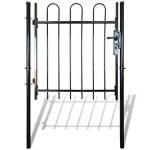 vidaXL Portillon une porte surmonté d'arceaux Clôture barrière de jardin 100 x 100 cm de la marque vidaXL image 2 produit