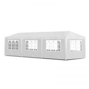 vidaXL Tonnelle de jardin Pavillon Tente de réception Chapiteau Blanc 3x9m de la marque vidaXL image 0 produit