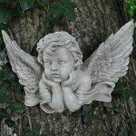 Vintage Chérubin Prière M Sculpture murale Gel Finition Pierre Ange en polyrésine Enfant. Intérieur Extérieur Jardin Décoration 20X de la marque Prezents.com image 1 produit