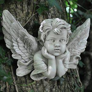 Vintage Chérubin Prière M Sculpture murale Gel Finition Pierre Ange en polyrésine Enfant. Intérieur Extérieur Jardin Décoration 20X de la marque Prezents.com image 0 produit