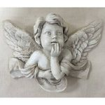 Vintage Petit Chérubin Prière Sculpture murale Gel Finition Pierre Ange en polyrésine Enfant. Intérieur Extérieur Jardin 13 de la marque Prezents.com image 1 produit