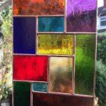 Vitrail Suncatcher Panneau, Multicolore Cuivre Abstrait Vitrail Art Sun Catcher, Attrape-soleil - Colin Rhodes de la marque Colin Rhodes Designs In Glass image 1 produit