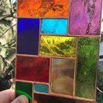 Vitrail Suncatcher Panneau, Multicolore Cuivre Abstrait Vitrail Art Sun Catcher, Attrape-soleil - Colin Rhodes de la marque Colin Rhodes Designs In Glass image 2 produit