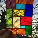 Vitrail Suncatcher Panneau, Multicolore Cuivre Abstrait Vitrail Art Sun Catcher, Attrape-soleil - Colin Rhodes de la marque Colin Rhodes Designs In Glass image 3 produit
