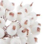 VORCOOL Mini Baie Fruit de Noël Givré Houx Fleur Artificielle Décoration - 200 pièces de la marque VORCOOL image 2 produit
