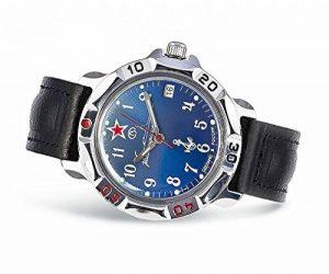Vostok Coma ndir Skie 211307, montre bracelet, l'URSS, la Russie, militaire, Coma ndirs Kije Horloge, Montre bracelet, l'URSS, Soviet Union, flotte, mécanique, étanche, calendrier, Blason, drapeau étoile, bleu, rouge de la marque VOSTOK image 0 produit