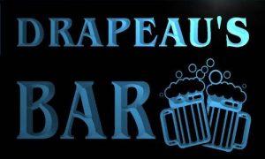 w019528-b DRAPEAU'S Nom Accueil Bar Pub Beer Mugs Cheers Neon Sign Biere Enseigne Lumineuse de la marque AdvPro Name image 0 produit
