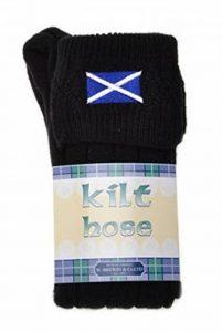WB Socks Chaussettes de Kilt, Brodés Drapeau Écossais, Gamme de Pointures et Couleurs de la marque WB Socks image 0 produit