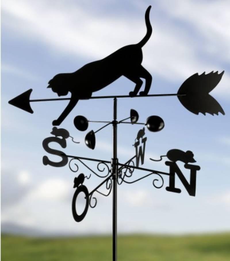 Décoration d\'extérieur Outils-et-Nature.fr Girouette Chat ...