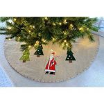 WeRChristmas Père Noël et bonhomme de neige 3D 122cm jupe de sapin de Noël, marron, multicolore de la marque WeRChristmas image 1 produit