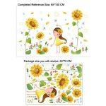 Winhappyhome Tournesol Stickers Muraux à La Girouette Pour Salon à La Chambre de la marque Winhappyhome image 1 produit