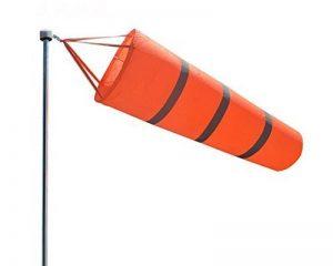 Winterworm Orange fluorescent Manche à air, aéroport et Héliport Manche à air, rayures Breeze Wind Sock, mesure du vent, du vent VANE Drapeau 0.8 m de la marque Winterworm image 0 produit
