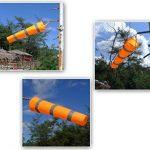 Winterworm Orange fluorescent Manche à air, aéroport et Héliport Manche à air, rayures Breeze Wind Sock, mesure du vent, du vent VANE Drapeau 0.8 m de la marque Winterworm image 2 produit
