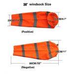 Winterworm Orange fluorescent Manche à air, aéroport et Héliport Manche à air, rayures Breeze Wind Sock, mesure du vent, du vent VANE Drapeau 0.8 m de la marque Winterworm image 1 produit