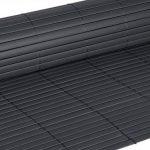WOLTU GZZ1186gr4 Canisse PVC pour jardin balcon terrasse, Tapis de dépistage PVC,Clôture de dépistage,Balcon clôture brise-vent,Stores Balcon,Clôture Auvent tapis de diaphragme,500x120cm,Gris de la marque WOLTU image 4 produit