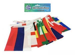 World of Bunting 2018Coupe du monde de football féminin fanions Russie Football Bannière Tissu 6m avec toutes les équipes de 32Petits drapeaux 10cm x 15cm de la marque World of Bunting image 0 produit