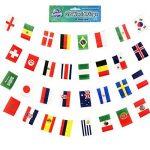 World of Bunting 2018Coupe du monde de football féminin fanions Russie Football Bannière Tissu 6m avec toutes les équipes de 32Petits drapeaux 10cm x 15cm de la marque World of Bunting image 1 produit