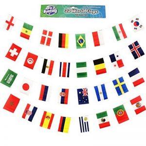 World of Bunting Coupe du monde de football fanions Russie 2018Football Bannière drapeaux Tissu 10m avec tous les 32équipes de la marque World of Bunting image 0 produit