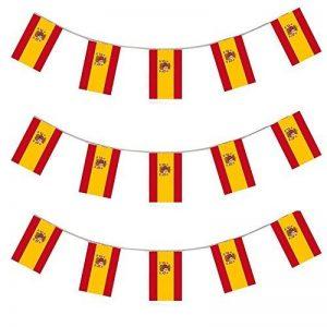 X100 Une bannière de 10 mètres composée de 20 drapeaux aux couleurs d'Espagne I Love Fancy Dress Wholesale - Idéal pour toutes manifestations sportives ou patriotiques - Livraison Gratuites de la marque ILOVEFANCYDRESS image 0 produit